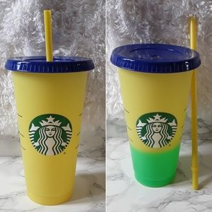 STARBUCKS Single Color Changing Yelow CUP